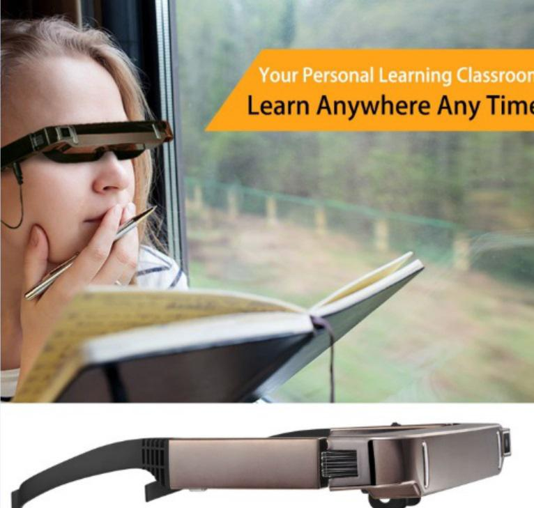 BEESCLOVER Vision 800 Smart Android WiFi Gläser Breite Bildschirm Tragbare Video 3D Gläser Private Theater mit Bluetooth Kamera r25 - 3