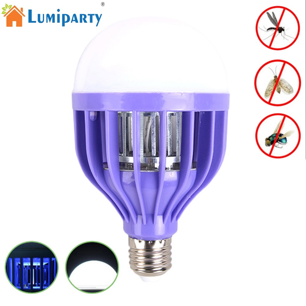 LumiParty LED Anti-mosquito bulb 12W Safe Mosquito Killing Lamp Energy Saving Flies Trapping Device