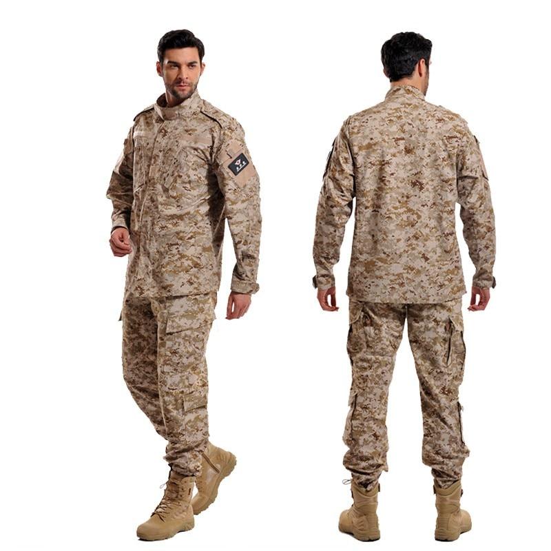 Armée militaire tactique uniforme Airsoft Combat BDU désert Camouflage champ de bataille vêtements hommes chasse vêtements Ghillie costume