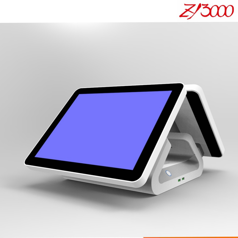 All In One Touch Screen Pc 15'' Double Screen Pos System Touch Screen Standard Pos Terminals