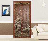 FUYA Hands Free Brown Magnetic Door Screen Mosquito Net Magnetic Sheer Curtains Mesh