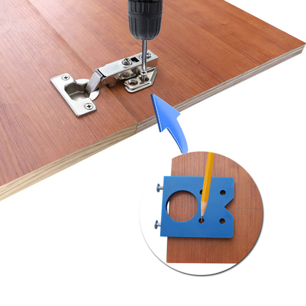 35mm Hinge Jig Hole Saw Installation Wood Drill Guide Hinge Hole Boring Furniture Door Cabinet Tool For Carpentry