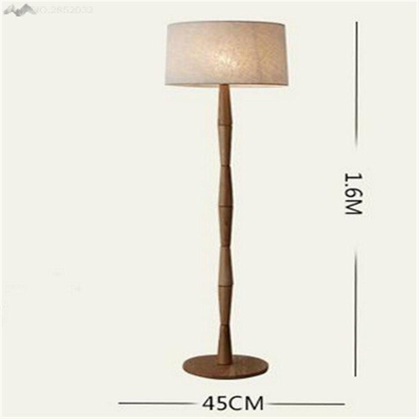 2017 Einfache Moderne Professionelle Massivholzboden Lampen Lampe Lichter Kreative Studie Schlafzimmer Wohnzimmer Stehleuchte BeleuchtungChina