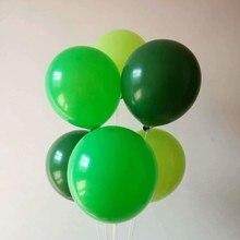 Темно-зеленые балоны 50 латексные воздушные баллоны 12 дюймов 3,2 г Рождественский шар декоры День рождения День Святого Валентина Зеленый День Декор