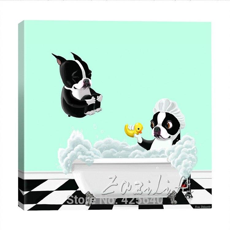 Toile-Bain-Baignoire-BT-par-Brian-Rubenacker-Graphique-Art-sur-toile-peinture À L'huile Sur Toile Mur Photos Peintures Pour Le Salon Mur