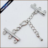 5 Pcs Lot Silver Plated Lobster Clasps Jump Ring Extended Extention Chains DIY Jewelry Hooks Pearl