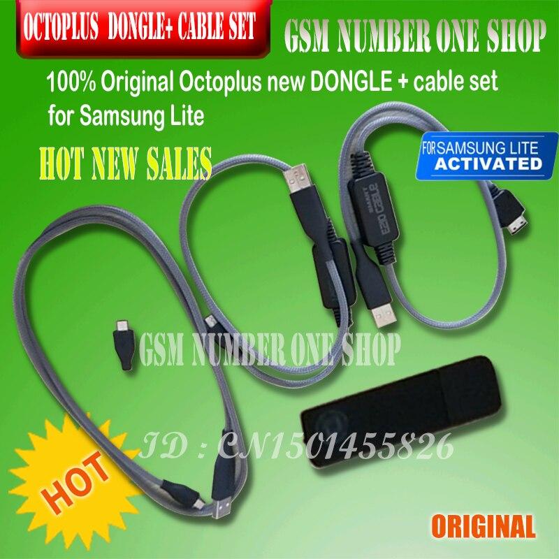 100% Original nouveau Octoplus Dongle + câbles pour Samsung Lite + Micro USB câble + E210 câble + + pour i9000 télécharger Micro UART câble