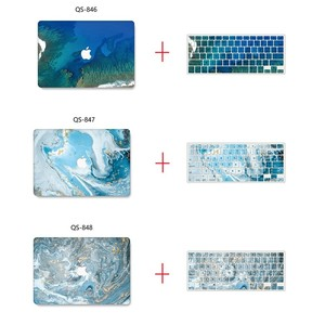 Image 2 - Yeni Mermer 3D baskı MacBook notebook kılıfı dizüstü bilgisayar kılıfı Için MacBook Hava Pro Retina 11 12 13 15 13.3 15.4 inç Torba