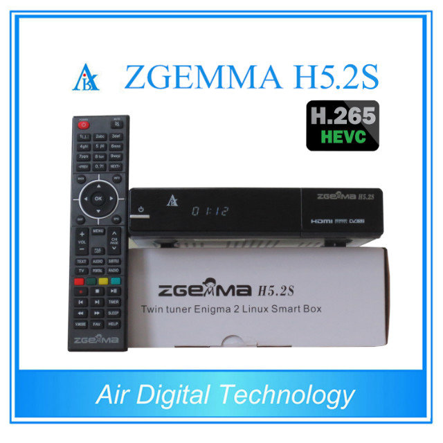 3pcs/lot ZGEMMA H5.2S with DVB-S2 + DVB-S2 Twin Tuners BCM73625 Dual Core Satellite Receiver with HEVC / H.265 5 pcs lot zgemma h7s 4k ultra receiver twin dvb s2x s2 dvb t2