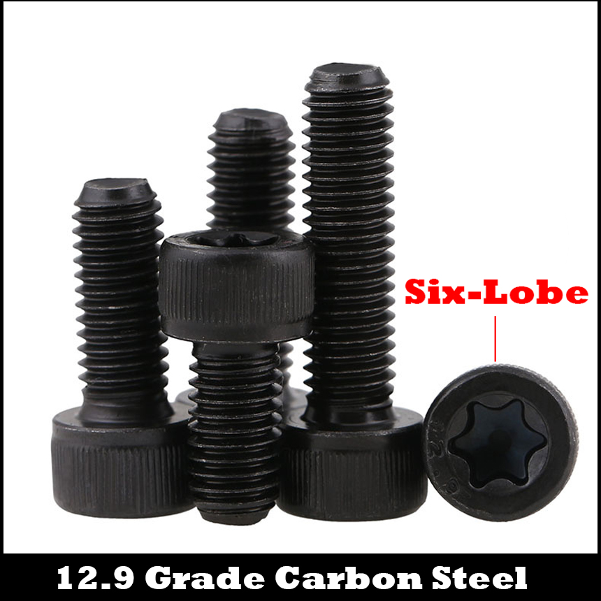 M5 M5*16/20/25 M5x16/20/25 12.9 Grade Carbon Steel Torx Six Lobe Pin Cap Cup Allen Head Bolt Hex Hexagon Socket Security Screw