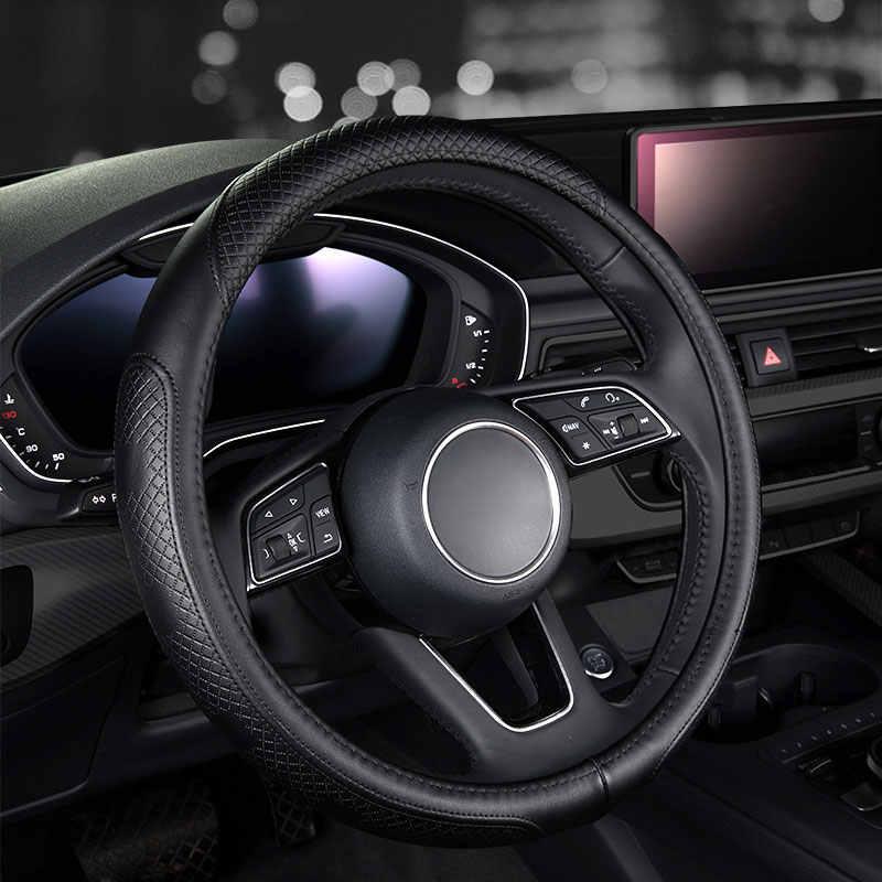 ファッション車の革ステアリングホイールカバーオートアクセサリー用フィアット500 500x albeaでbravo ducatoフリーモントlinea mareaパリオパンダ