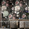 Wallpapers Custom Classic Vintage Flowers Design Wall Mural On Wall For Livingroom Home Decor Free Shipping