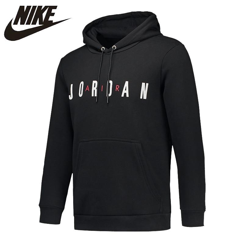 NIKE Original Air Jordan Skateboarding Hoodies Mens Round Neck Plus Cashmere Warm For Mens #AH4510-010