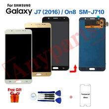 Для samsung Galaxy J7 SM-J710F дисплей ЖК-экран Замена для samsung On8 SM-J710FZ J710K J710MN дисплей экран модуль