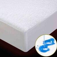 100% À Prova D' Água tecido de algodão terry colchão protetor de Colchão Covers & Pinças e respirável Estilo Lençol colcha