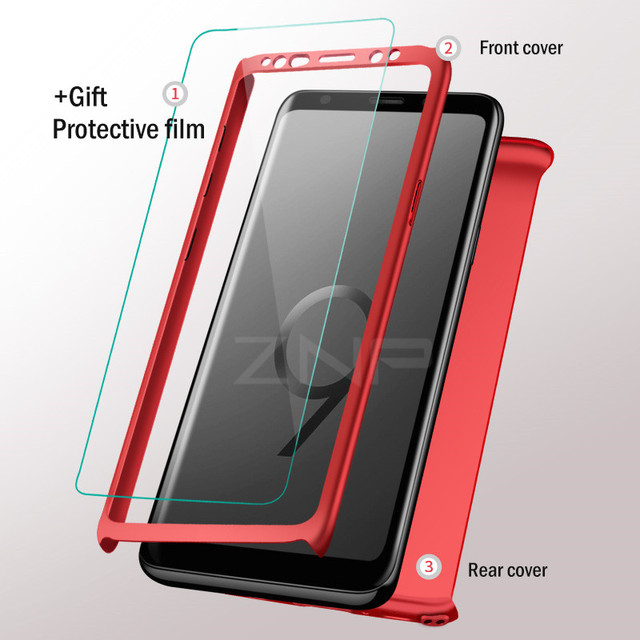Luxury 360 Degree Full Cove For Samsung Galaxy S9 S8 Plus S10 Shockproof Cover For Samsung Note 8 9 S9 Plus Case