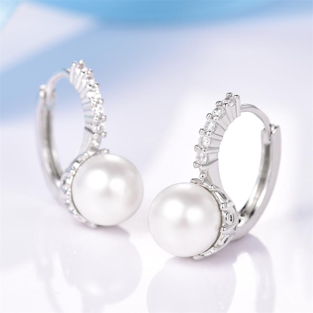 MOLIAM Crystal Hoop kõrvarõngad naistele valged / hallid - Mood ehteid - Foto 4