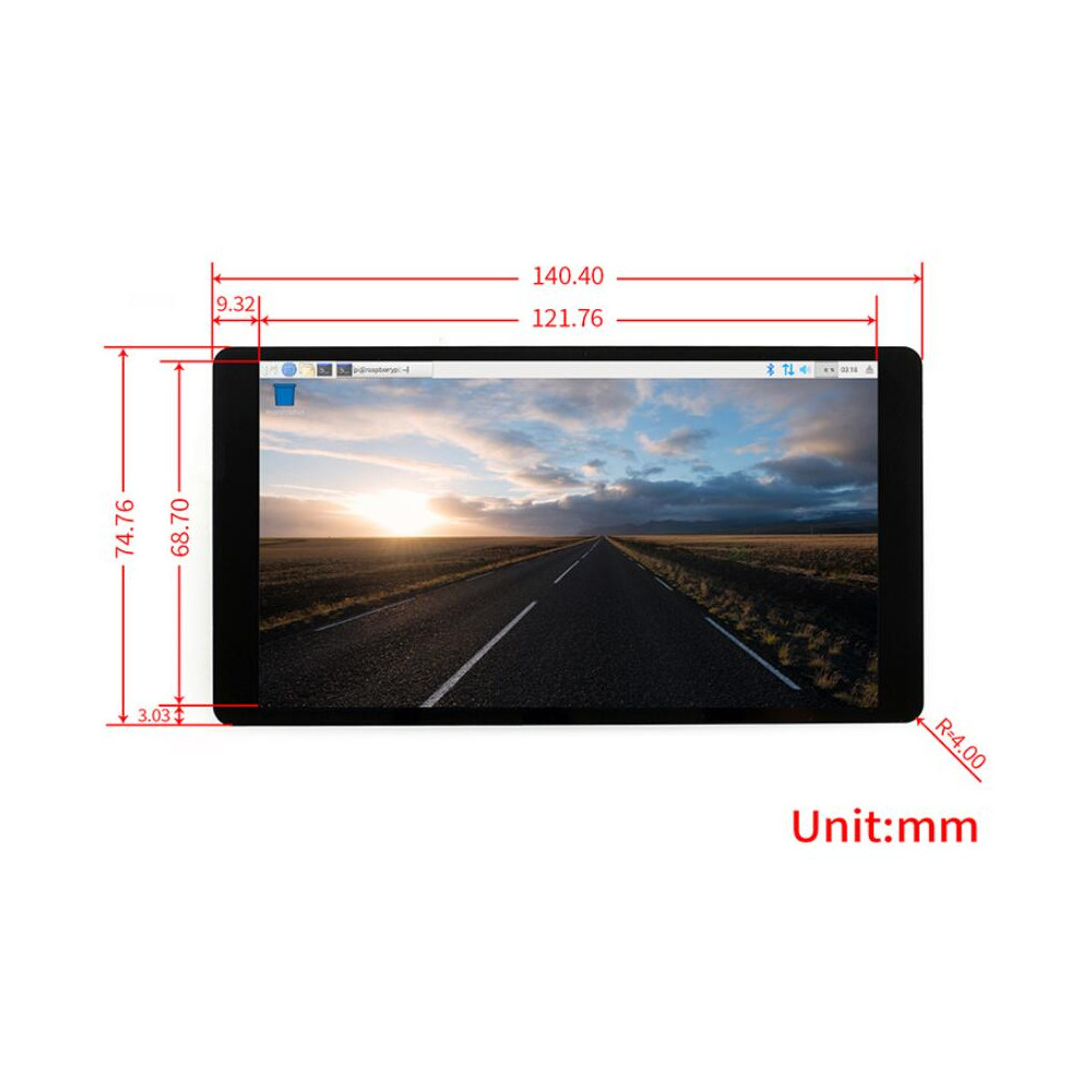 5.5 Inch AMOLED HDMI Display Capacitive Touch Screen Module With Tempered Glass Support For NVIDIA For Nano For Raspberry Pi