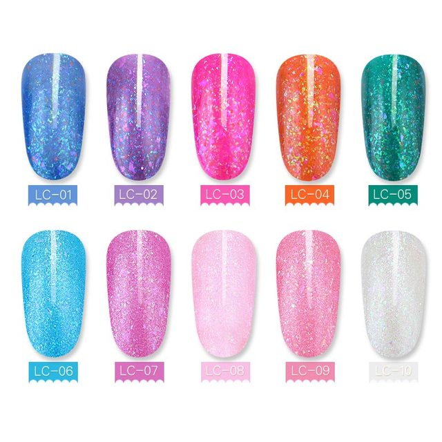 LILYCUTE Irregular Sequins Gel