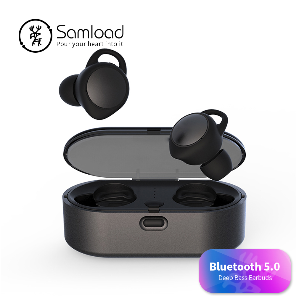Samload Bluetooth 5.0 Stereo Earphones T02 Wireless Headset Sports Music Earbuds Headphone Outdoor For Apple iPhone 6 7 8 Xiaomi 360 degree rotary snake shaped wide car holder w suction cup for smartphones black