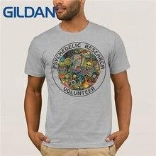 GILDAN Psychedelic print casual tshirt mens o-neck t shirts fashion tops men T-shirt short sleeve MR1509