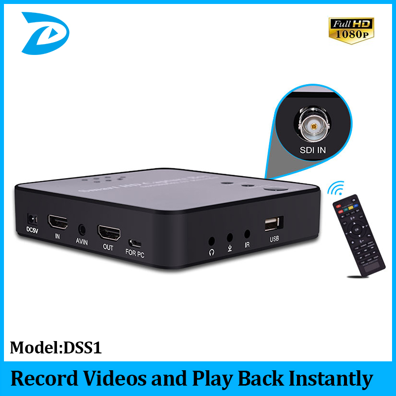 1080P 3G SDI HDMI Capture Video Recorder USB Flash Disk HDD No PC Enquired No Any Set up and play back instantly
