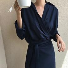 Vestido 女性秋エレガントな 長袖ローブファム服 ネックソリッド包帯ボディコンロングシャツドレス女性固体プラスサイズ