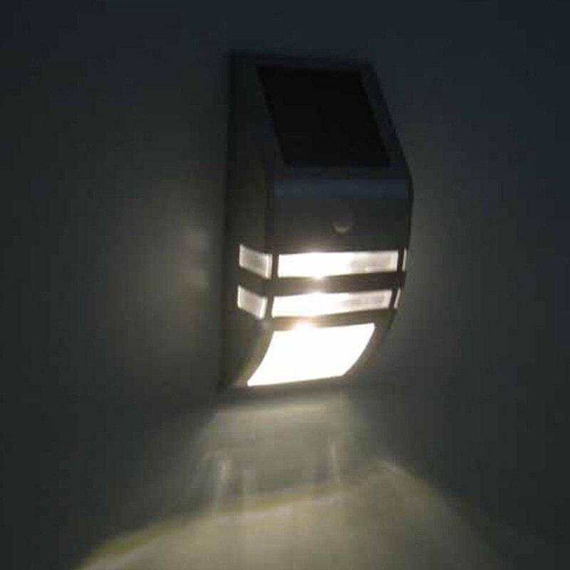 24pcs/lot New Design Solar Power Motion Sensor Super Bright LED Stainless Steel Light Garden Wall PIR Lamp 170*80*50(mm)