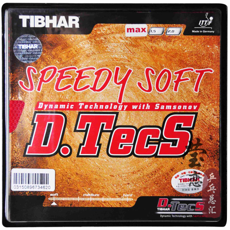 Original Tibhar Speedy Soft D.TECS table tennis rubber pimples out attack for table tennis rackets blade ping pong rubber original tibhar nimbus soft pimples in table tennis rubber table tennis rackets racquet sports germany fast attack with loop