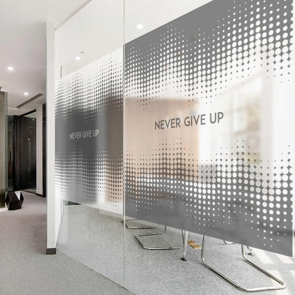 Art space company business fashion decorative glass stickers office partition door and window glass film can