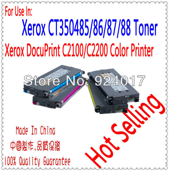 Reset Toner Use For Xerox DocuPrint C2100 C2200 Printer,For Xerox Toner CT350485 CT350486/87/88,For Xerox DPC 2100 2200 Toner 2065 3055 toner chip laser printer cartridge chip reset for xerox docuprint 2065 3055