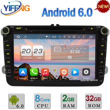 2GB+32GB 4G Octa Core Android 6.0 Car DVD Player For Volkswagen Tiguan Scirocco Sharan Golf Touran Caddy Octavia GPS Navigation