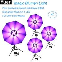 Светодиодный 114 шт 0,2 W DMX512 Magic Blumen высокий яркий свет RGB 3in1 огни дискоклуб этап световой эффект зонтик цветов Лампа