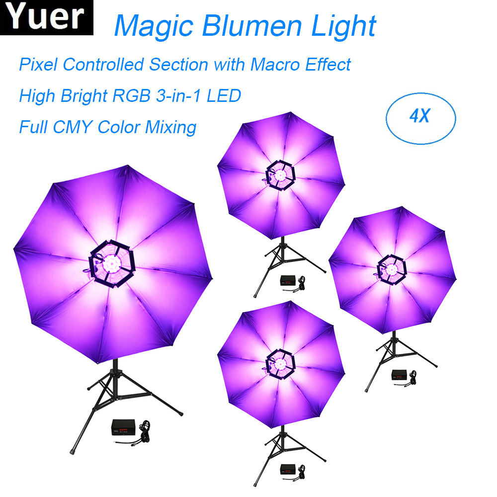 Commercial Lighting Led 114pcs 0.2w Dmx512 Magic Blumen Light High Bright Rgb 3in1 Lights Dj Disco Club Stage Light Effect Umbrella Colours Lamp