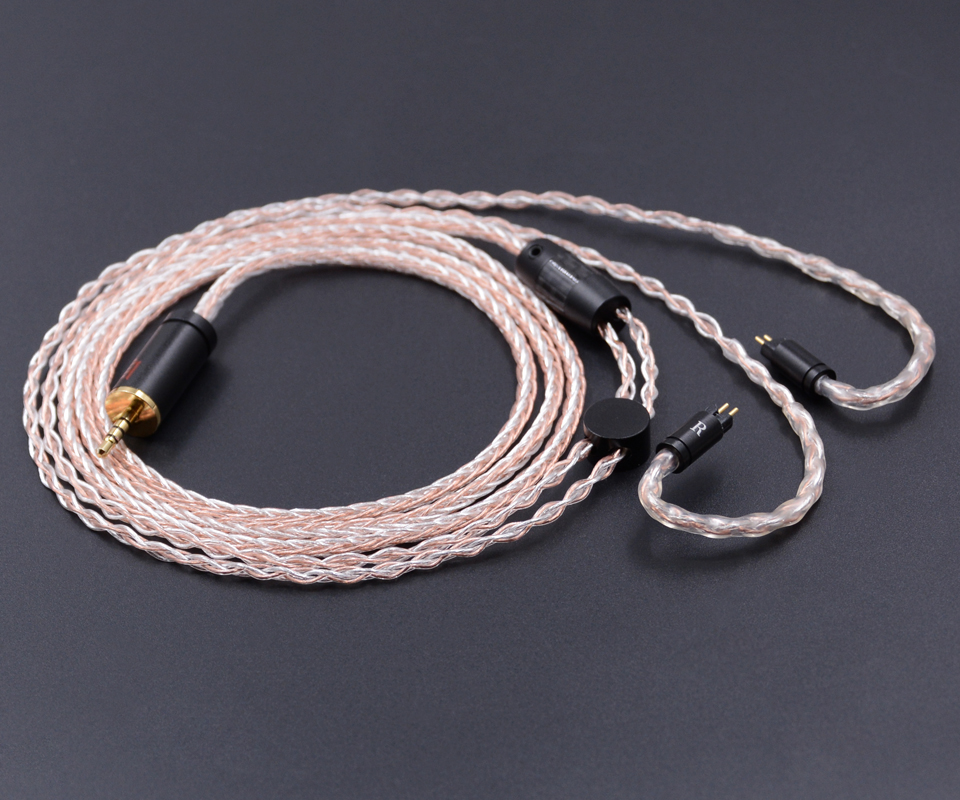 New NICEHCK 8-core 2.5mm Balanced 0.78mm 2Pin Earphone Cable Silver With Copper Mixed Earphone Cable Use For KZ ZS5 KZ ZS6New NICEHCK 8-core 2.5mm Balanced 0.78mm 2Pin Earphone Cable Silver With Copper Mixed Earphone Cable Use For KZ ZS5 KZ ZS6