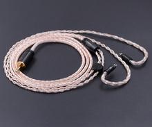 Yeni NICEHCK 8-core 2.5mm Ile Dengeli 0.78mm 2Pin Kulaklık Kablosu Gümüş Bakır KZ Karışık Kulaklık Kablosu Kullanımı ZS5 Evrensel