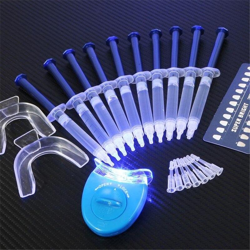 Sistema di Sbiancamento dei denti 44% di Perossido di Sbiancamento Dentale Orale Kit Gel Con LED LightTooth Decolorante Apparecchiature Dentali Smiles Teeth