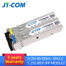 1Pair 1G SM LC 3/20/40/80KM Gigabit SFP Module Bidi Single Mode Fiber Optical Equipment Transceiver Compatible with Cisco Switch(China)