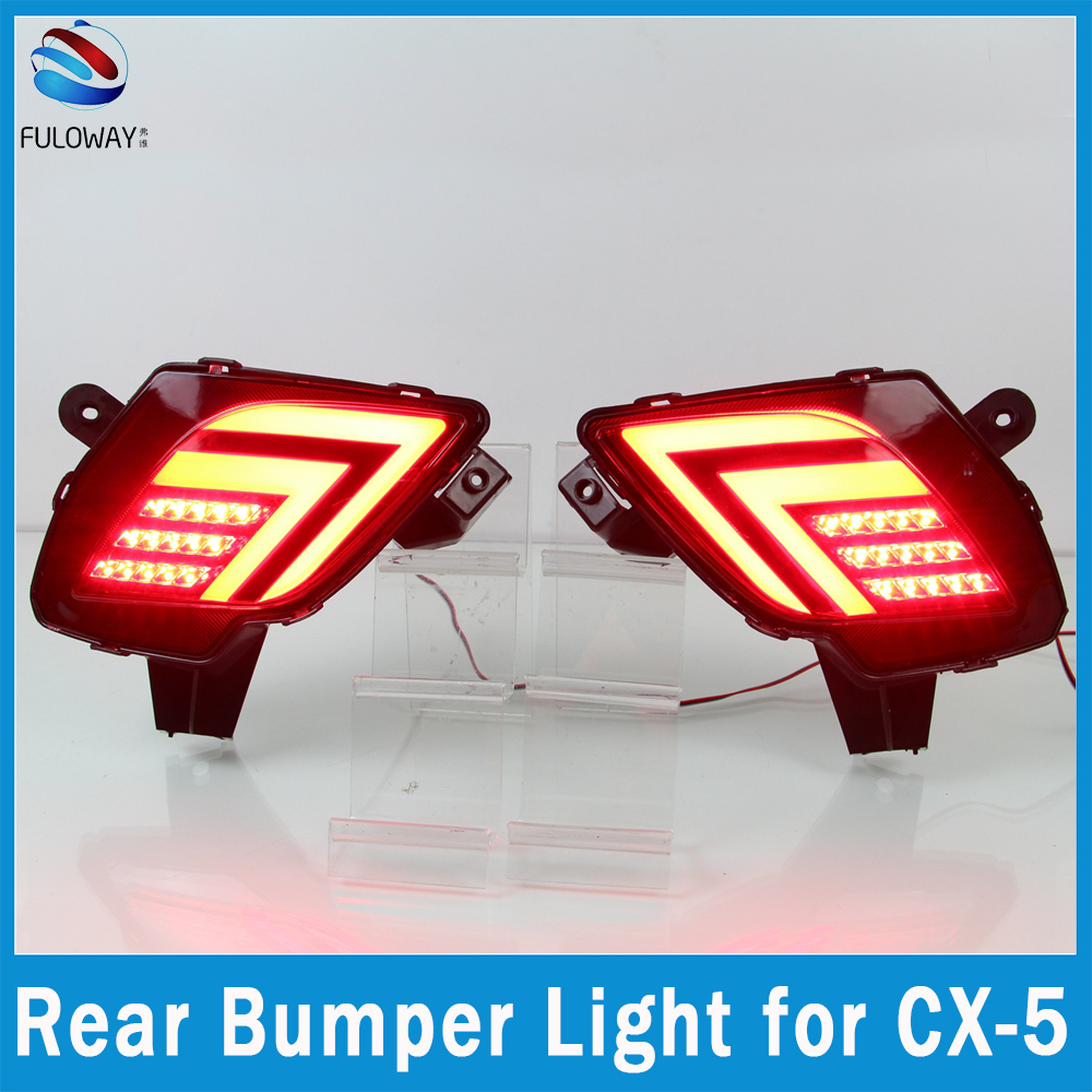 Multi-functions LED Tail Light Assembly Fog DRL Daytime Running Lights Auto Rear Bumper Brake Lights For Mazda CX-5 CX5 12-16 rear bumper light fog lamp for mazda cx 5 left and right top quality