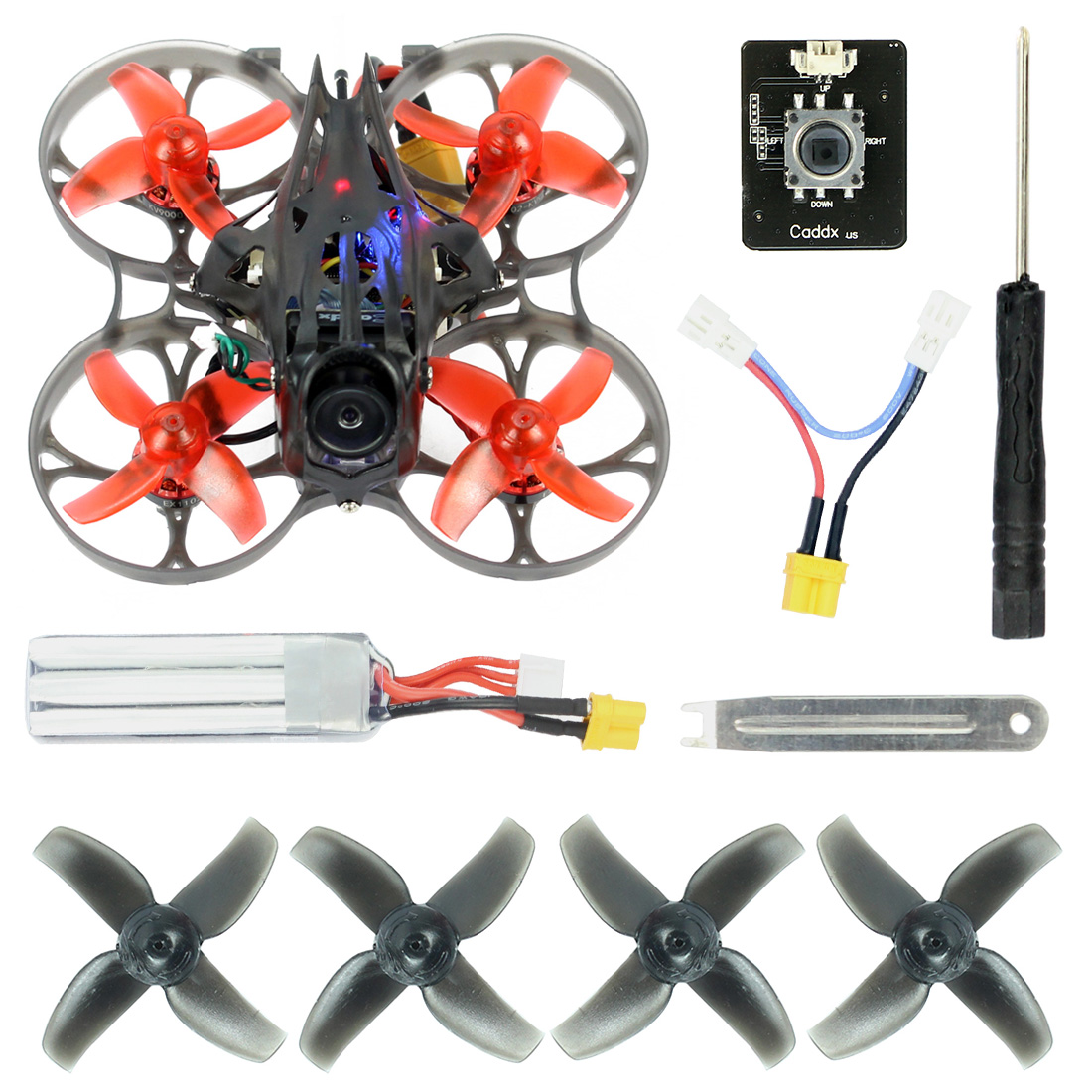 Mise à niveau Happymodel Mobula7 HD 2-3 S 75mm crazy ybee F4 Pro Bwhoop FPV Drone de course PNP BNF avec CADDX tortue V2 HD Mini caméra