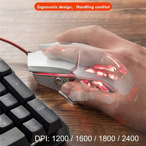 Image 5 - FELYBY Professional Wired Gaming Mouse 6 Button 2400 DPI LED Optical USB Computer Mouse Gamer Mice V9 Game Mouse For PC