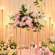 Personalizar 40cm boda Rosa artificial Decoración de mesa de la bola de la flor de mesa de decoración de mesa de fiesta floral camino flor