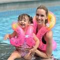 2017 Nueva venta caliente de seguridad chaleco salvavidas chaleco salvavidas inflable de dibujos animados de seguridad del agua traje de baño niños natación accesorios