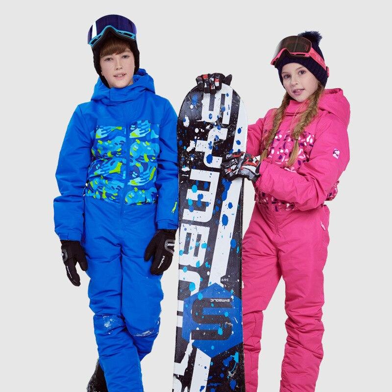 Dollplus Kids Boys Girl Ski Suit Waterproof Windproof Ski Snowboard Winter Warm Thermal Hooded One-piece Children Clothing SetsDollplus Kids Boys Girl Ski Suit Waterproof Windproof Ski Snowboard Winter Warm Thermal Hooded One-piece Children Clothing Sets