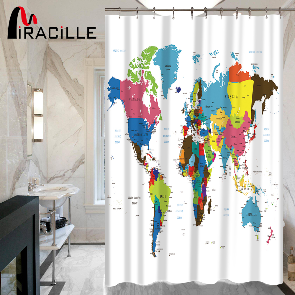 Buy world map shower curtain fabric and get free shipping on buy world map shower curtain fabric and get free shipping on aliexpress gumiabroncs Image collections