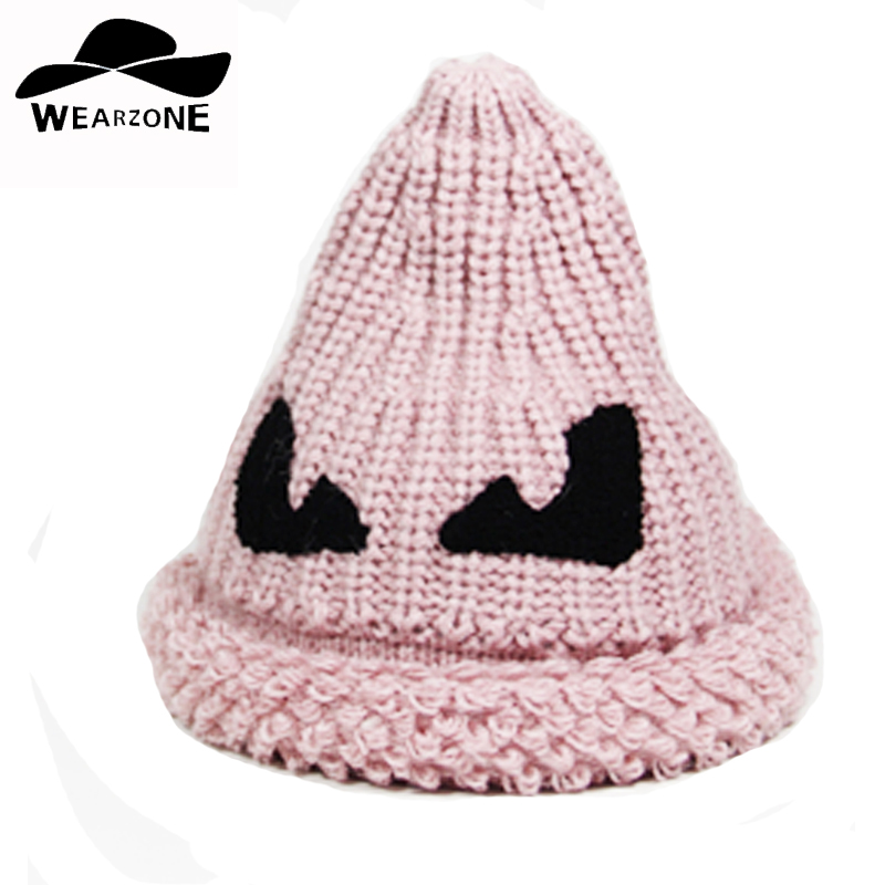 2016 new fashion woman cute Witch hats female Skullies caps girl Beanies warm winter knitted hats