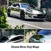 High Stretchable Silver Chrome Air Bubble Free Mirror Vinyl Wrap Film Sticker Sheet Emblem Car Bike