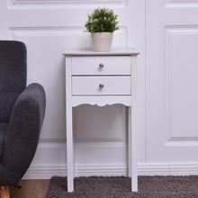 Table Night Stand with 2 Drawers Home Furniture