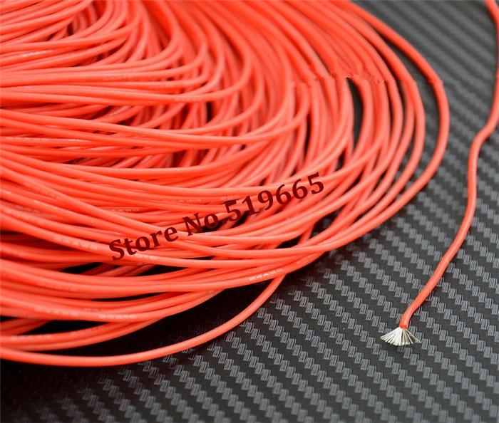 24AWG Rot/Schwarz/Gelb/Blau farbe Silicon Draht Weichen Kabel draht ...