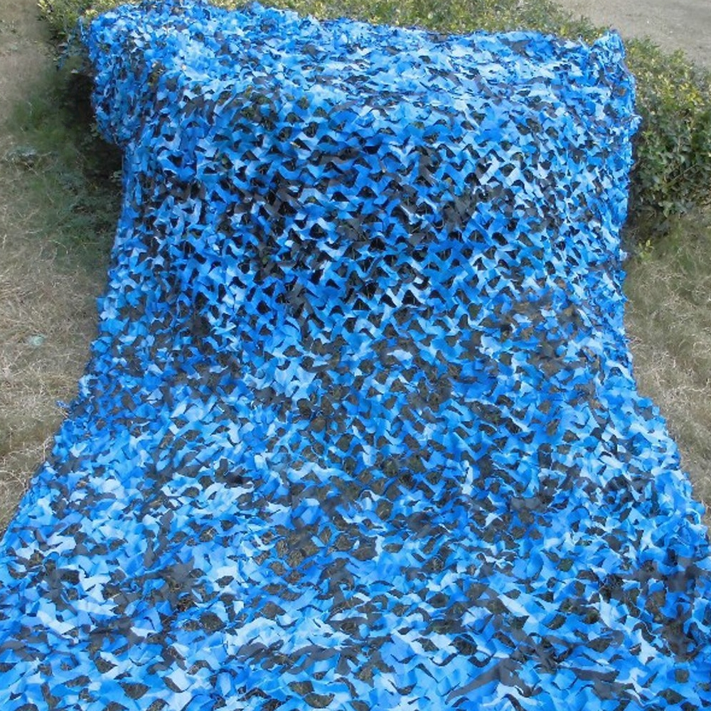 3 5m 6m Filet Camo Netting Blue Camouflage Tarp For Fishing Tent Beach Silicone Camping Shade Canopy In Awnings From Home Garden On